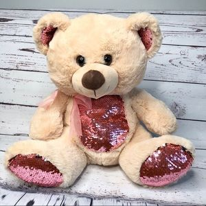 Other - 3for$23 Reversible Sequin Teddy Bear kids